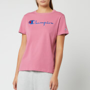Champion Women's Big Script Crew Neck Short Sleeve T-Shirt - Heather Rose