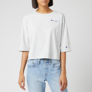 Champion Women's Back Script Oversized Cropped T-Shirt - Grey Marl