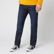 Edwin Men's ED-80 Slim Tapered Yuuki Blue Denim Jeans - Taiki Wash