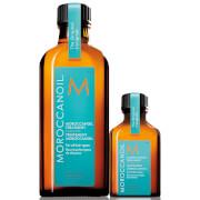 Moroccanoil Home & Away Set (Moroccanoil Treatment 100ml + Free Moroccanoil Treatment 25ml)