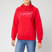 Levi's Women's Graphic Sport Hoodie - Hsmk Outline Hoodie Brilliant Red