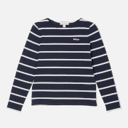 Barbour Girl's Clair Long Sleeve Top - Navy/Rose