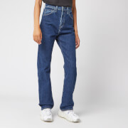 Levi's Women's Made and Crafted 701 Straight Leg Jeans - Dark Stonewash