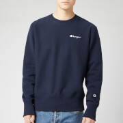 Champion Men's Small Script Sweatshirt - Navy