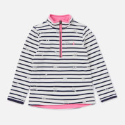 Joules Girls' Fairdale Half Zip Sweatshirt - Cream Shiny Horses