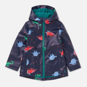 Joules Boys' Skipper Printed Rubber Coat - Navy Dinos