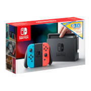 Nintendo Switch with Neon Blue / Neon Red Joy-Con Controllers + £30 eShop Credit