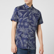 Ted Baker Men's Damiem Short Sleeve Shirt - Navy