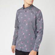Ted Baker Men's Richrd Floral Geo Print Shirt - Navy