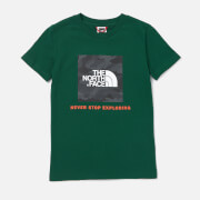 The North Face Boys' Box Short Sleeve T-Shirt - Night Green