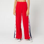 Tommy Sport Women's Flag Tape Flare Pants - True Red