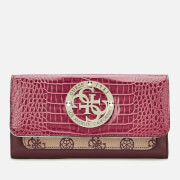 Guess Women's Magnolia Pocket Trifold Wallet - Merlot