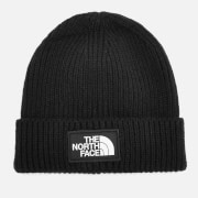 The North Face Men's Logo Box Cuffed Beanie Hat - TNF Black