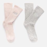 Superdry Women's Superdry Sparkle Sock 2 Pack - Grey Sparkle/Blush Sparkle