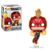 Marvel Captain Marvel Flying GITD EXC Funko Pop! Vinyl