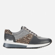 MICHAEL MICHAEL KORS Women's Allie Running Style Trainers - Black/Silver