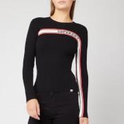 Superdry Women's Superdry Logo Ribbed Jumper - Black