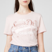 Superdry Women's Real Originals Satin Entry T-Shirt - Shell Pink