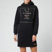 Superdry Women's Oversized Scandi Hooded Dress - Black