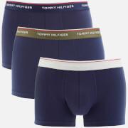 Tommy Hilfiger Men's 3 Pack Trunks - Olive Night/Peacoat/Glacier Grey