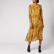 Whistles Women's Ikat Animal Ines Dress - Yellow/Multi