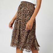 MICHAEL MICHAEL KORS Women's Panelled Slit Skirt - Dark Camel