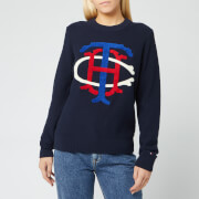 Tommy Hilfiger Women's Essential Graphic Sweater - Sky Captain