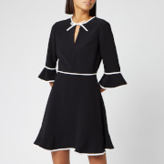 Ted Baker Women's Dindy Skater Dress with Bow Binding - Black