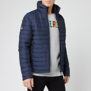 Superdry Men's Double Zip Fuji Coat - Deep Marine