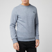 Superdry Men's Orange Label Crew Sweatshirt - Creek Blue Grindle
