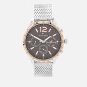 Tommy Hilfiger Men's Gavin Mesh Strap Watch - Rou Grey