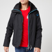 Superdry Men's Pop Zip Hood Arctic SD Windcheater NB - Black/Super Denby