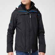 Superdry Men's Tech Hood Pop Zip SD Windcheater NB - Black/Super Denby