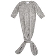 aden + anais Snuggle Knit Knotted Gown - Heather Grey (0-3 Months)