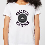 Checkers Champion Black Checker Women's T-Shirt - White
