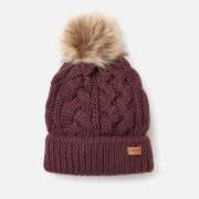 Barbour Women's Penshaw Cable Beanie - Bordeaux