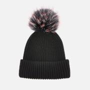 BKLYN Women's Oversized Hat - Black-Cherry