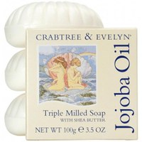 Crabtree & Evelyn Jojoba Öl Dreifach gefrästes Soap Set (3X100g)