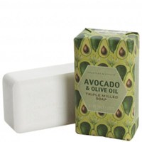 Jabón Avocado & Olive Oil molido tres veces de Crabtree & Evelyn (158 g)