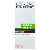 Матирующий увлажняющий гель для мужчин L'Oréal Men Expert Pure & Matte Anti-Shine Moisturising Gel (50 мл)