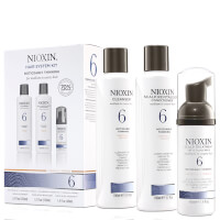 NIOXIN Hair System Kit 6 for Noticeably Thinning, Medium to Coarse, Natural and Chemically Treated Hair (3 products)