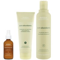 Aveda Volumen Haarpflege Trio Pure Abundance Shampoo, Conditioner & Purescription Volumising Tonic