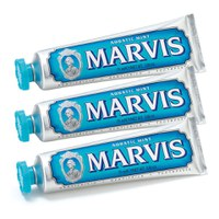Pasta de dientes menta Marvis Aquatic Mint  (3 x 75 ml)