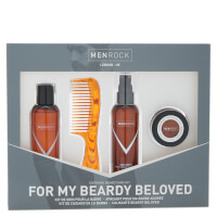 Kit productos para barba Men Rock Beardy Beloved (emulsión, jabón, cera para el bigote, caja)