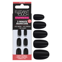 Elegant Touch Express Nails - Polished Black