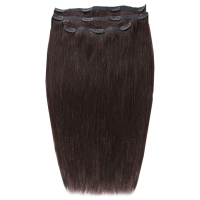 Extensiones de cabello Deluxe Clip-In de 45,7 cm de Beauty Works - Ébano 1B