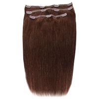 Beauty Works Deluxe Clip-In Hair Extensions 18 Inch - Chocolate 4/6