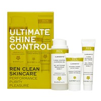 REN Ultimate Shine Control Regime Kit för blandhy.