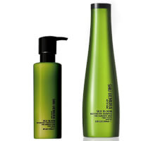 Shu Uemura Art of Hair Silk Bloom Shampoo (300 ml) og Balsam (250 ml)