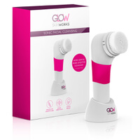 Glow SkinWorks Sonic Facial Cleansing Brush - Pink